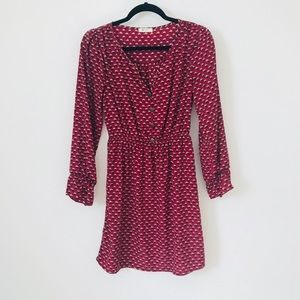 ModCloth Patterned Button Dress